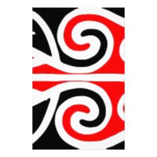 Stammes- Kunst der Maori- Entwürfe für Sie Briefpapier