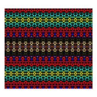 Stammes- Mosaikmuster Kunstphotos
