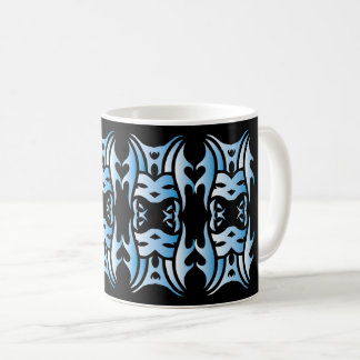 Stammes mug 11 blue black over kaffeetasse