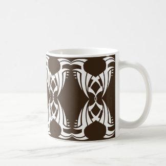 Stammes mug 12 whit Brown zu over Kaffeetasse