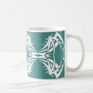Stammes mug 14 whit blue zu over kaffeetasse