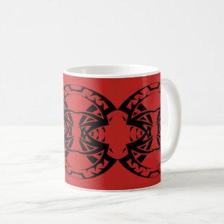 Stammes mug 15 black Netz over Kaffeetasse