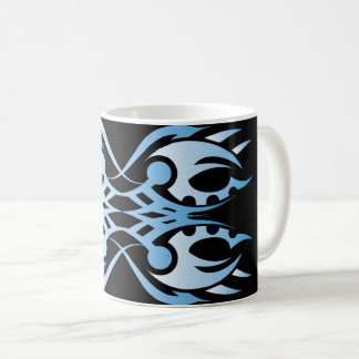 Stammes mug 18 blue black over kaffeetasse