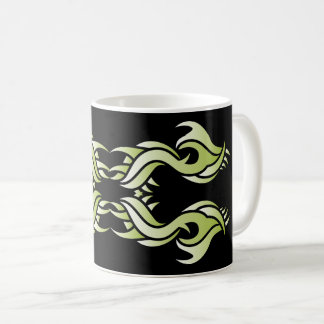 Stammes mug 8 Green black over Kaffeetasse
