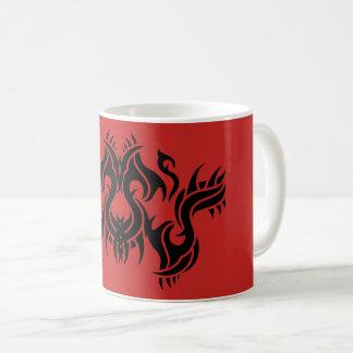 Stammes mug 9 black Netz over Kaffeetasse