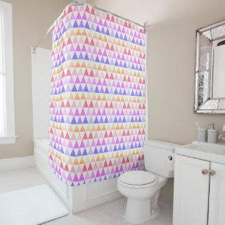 Stammes- Pfeil-Regenbogen-Prisma geometrisch Duschvorhang