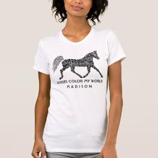 Stammes- Pferdetrottender optionaler T-Shirt