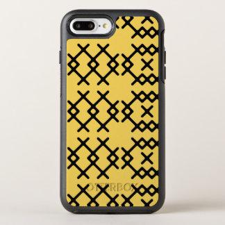 Stammes- Primel-Gelb-Nomade-geometrische Formen OtterBox Symmetry iPhone 8 Plus/7 Plus Hülle