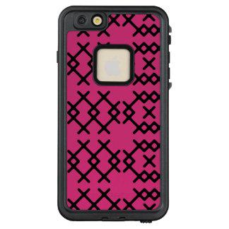 Stammes- rosa Schafgarbe-Nomade-geometrische LifeProof FRÄ' iPhone 6/6s Plus Hülle