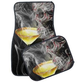 Stammes- Schädel mit Margaritaglas und -rauche Automatte