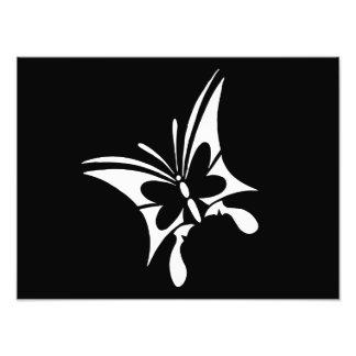Stammes- Schmetterlings-Tätowierung Photographischer Druck