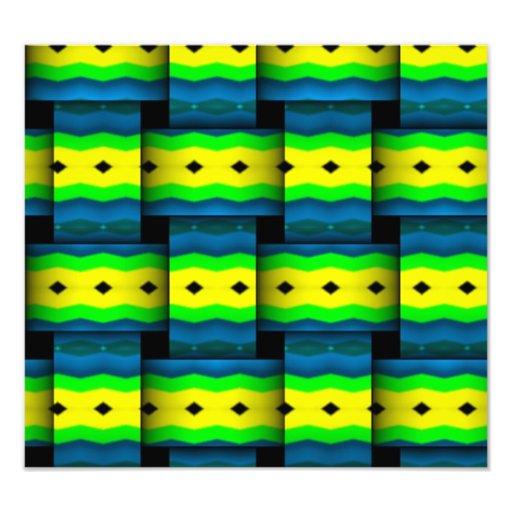 Stammes- spinnt abstraktes Muster Foto Druck