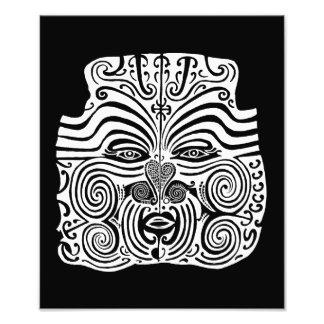 Stammes- Tätowierungs-Entwurf - Neuseeland Maori- Photo Drucke