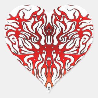 Stammes- Tätowierungs-Valentinsgruß-Herz Herz-Aufkleber