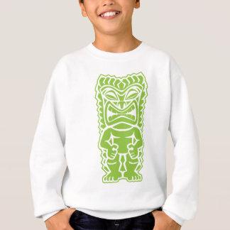 Stammes- Totem des heftigen tiki Limonen grünen Sweatshirt