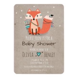 Stammes- Waldfox-Babyparty-Einladung 12,7 X 17,8 Cm Einladungskarte