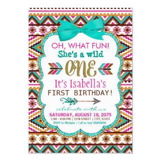 Stammes- wilde erste Geburtstags-Party Einladungen
