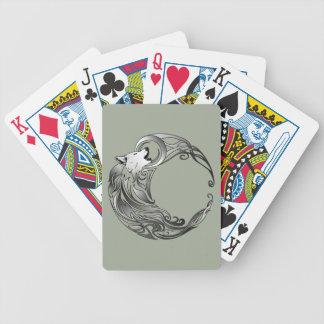 Stammes- Wolf - schattiert Bicycle Spielkarten