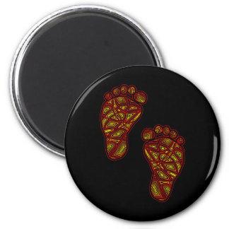 Stammes- Zehen Runder Magnet 5,1 Cm