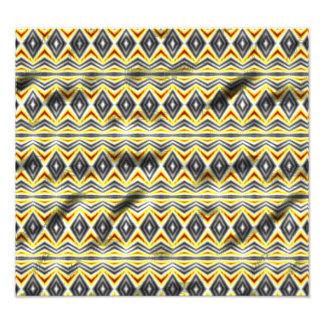 Stammes- zerknittertes Muster Foto Druck
