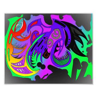 Stammesflashy postieren kunstphoto