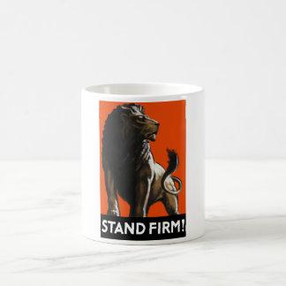 Stand-fester Löwe -- Propaganda WW2 Kaffeetasse