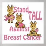 Stand hoch gegen Brustkrebs Posterdruck