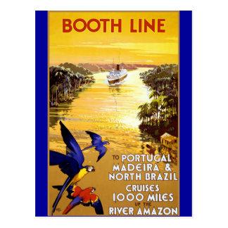 Stand-Linie nach Portugal Madeira Postkarte