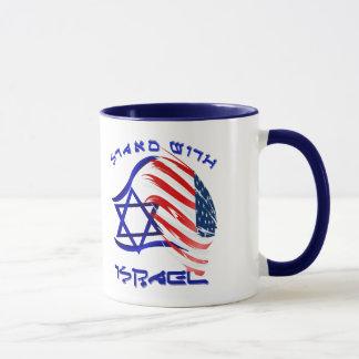 Stand mit Israel - mit Buchstaben gekennzeichnete Tasse