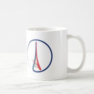 Stand mit Paris Kaffeetasse