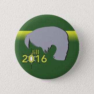 Standard, 2 Grafik ¼ Zoll-runde Knopf-Jill 2016 Runder Button 5,1 Cm