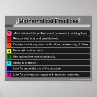 Standards für mathematisches Praxis-Plakat Poster