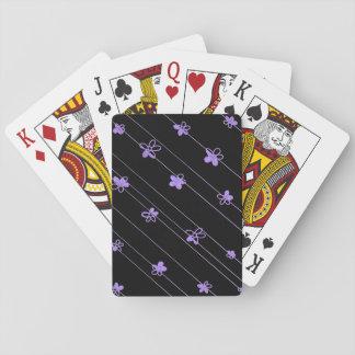 Standardspielkarten der lila Blumen Spielkarten