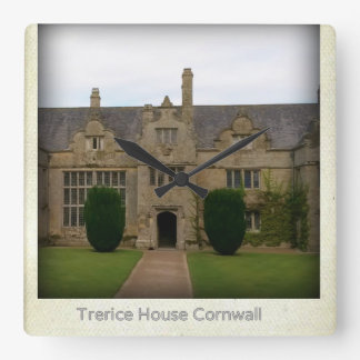 Standort Trerice Haus-Cornwalls England Poldark Quadratische Wanduhr