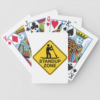 Standup Paddleboarding Zonen-Verkehrsschild Bicycle Spielkarten