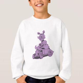 Stangenkaninchen - lila sweatshirt