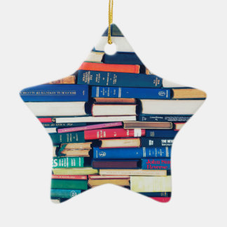 Stapel Bücher Keramik Ornament
