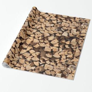 Stapel des Holzes Geschenkpapier