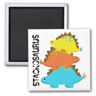 Stapel des Stegosaurus-Magneten Quadratischer Magnet
