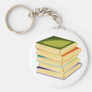 Stapel Schulbücher Keychain Schlüsselanhänger