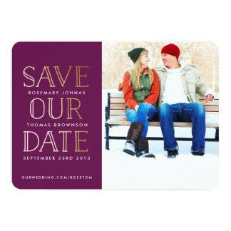 StaplungsgoldFoto Save the Date 12,7 X 17,8 Cm Einladungskarte