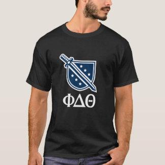 Staplungslogo und Buchstaben - Blau und Weiß T-Shirt