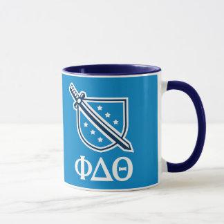 Staplungslogo und Buchstaben - Weiß Tasse