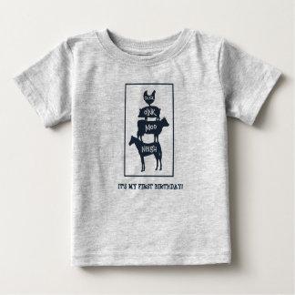 Staplungsvieh-personalisierter Geburtstag Baby T-shirt