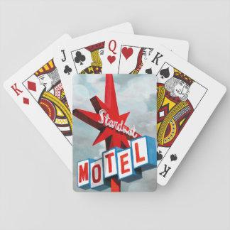 Stardust Motel-Zeichen Spielkarten