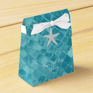 Starfish-Aqua-Seeglas personifizieren Geschenkschachteln
