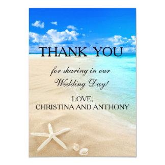 Starfish-Bestimmungsort-Strand-Hochzeit danken 11,4 X 15,9 Cm Einladungskarte