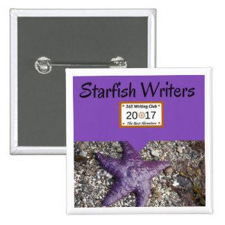Starfish-Button! Quadratischer Button 5,1 Cm