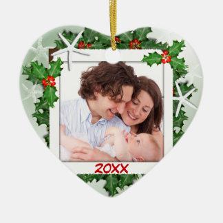 Starfish-Herz-Familien-Foto-Weihnachtsverzierung Keramik Ornament