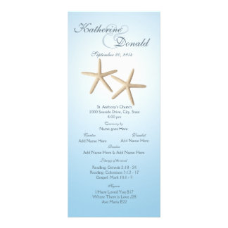 Starfish-Hochzeits-Programm-Karte Individuelle Werbekarte